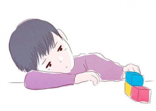 Lo strano sintomo della depressione infantile
