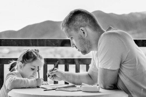 fare i compiti con il papà