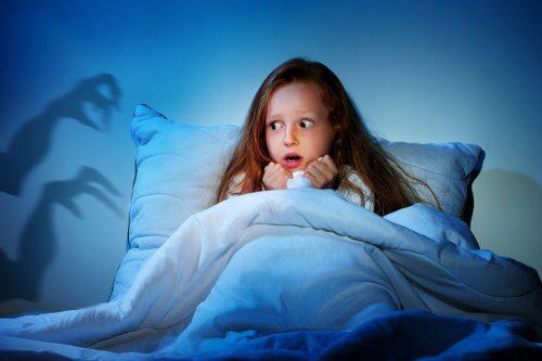 il timore degli incubi è una delle paure più frequenti nei bambini