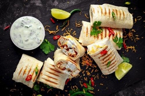 wrap con tortilla di mais