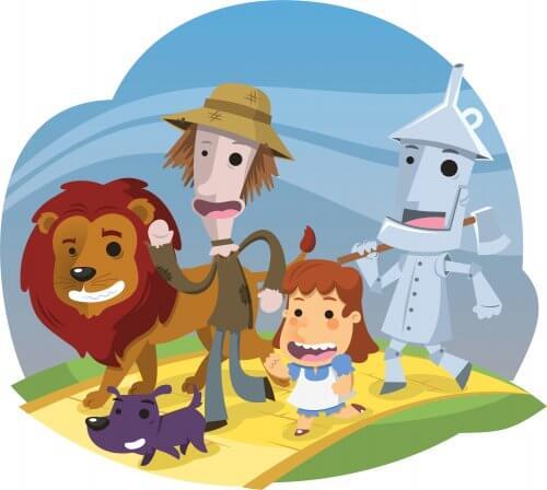 illustrazione dei racconti del Meraviglioso mondo di Oz