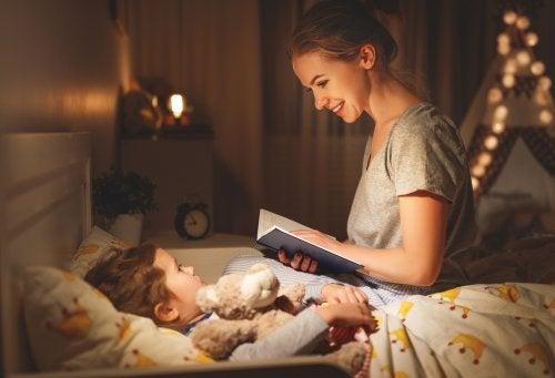 leggere delle storie è un ottimo modo per addormentarsi