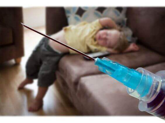 Siringa bambini non vaccinati