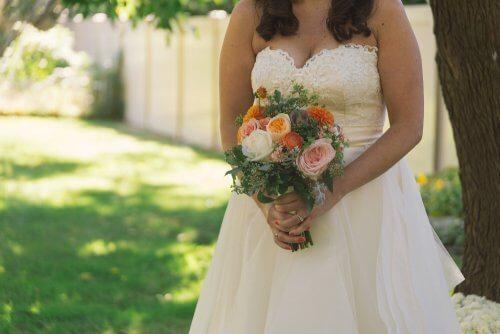 La sposa il giorno del suo matrimonio