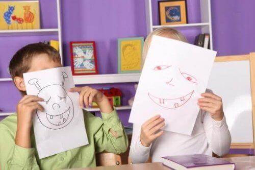 disegnare in modo divertente ciò che ci spaventa