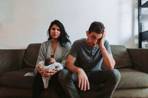Le crisi di coppia causate dall'arrivo di un bambino