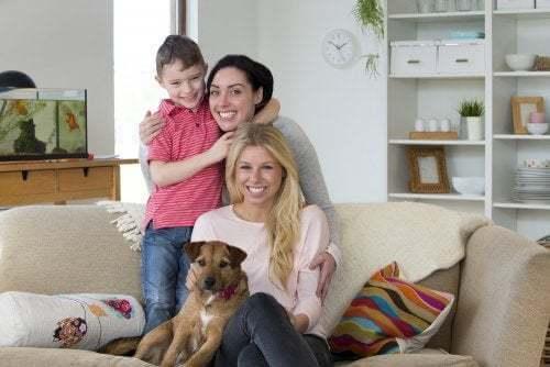 Famiglia omoparentale due mamme