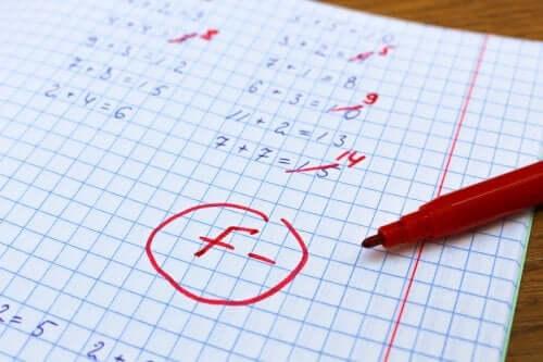 Compito di matematica andato male