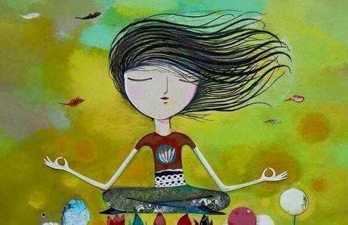 Analfabetismo emotivo: bambina che fa yoga
