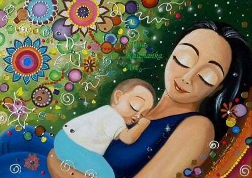 Le braccia del mio bambino sono l'unico gioiello che desidero al collo