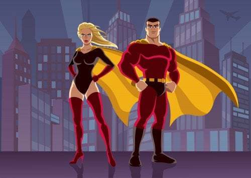 Coppia di cartoni animati Hero Tales
