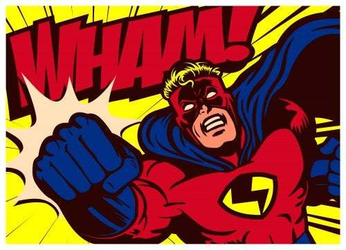 Supereroe dei fumetti.