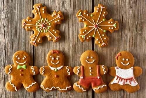 I biscotti di pan di zenzero sono un ottimo dolce natalizio.