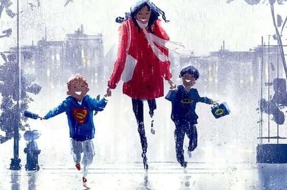 Tutto ciò che desidero è una corsa sotto la pioggia con la mia famiglia.