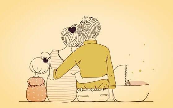 Tutto ciò che desidero è la mia famiglia e la felicità che ne deriva.