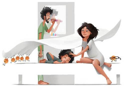 Illustrazione di una famiglia