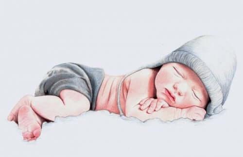 Disegno di un neonato