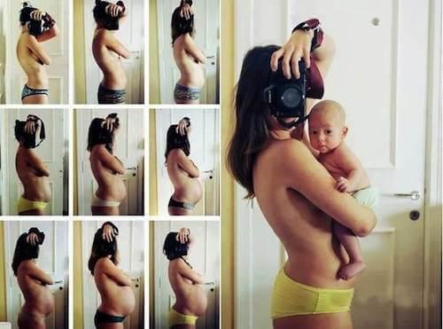 foto mamma durante fasi gravidanza