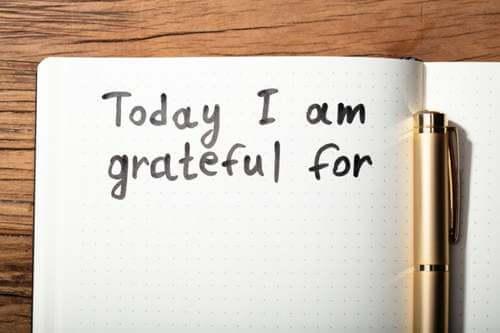 Agenda con messaggio ringraziamento