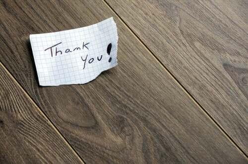 Nota per dire grazie