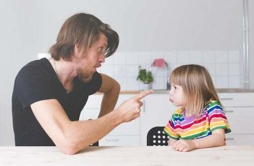Insegnare ad obbedire, padre rimprovera la figlia.