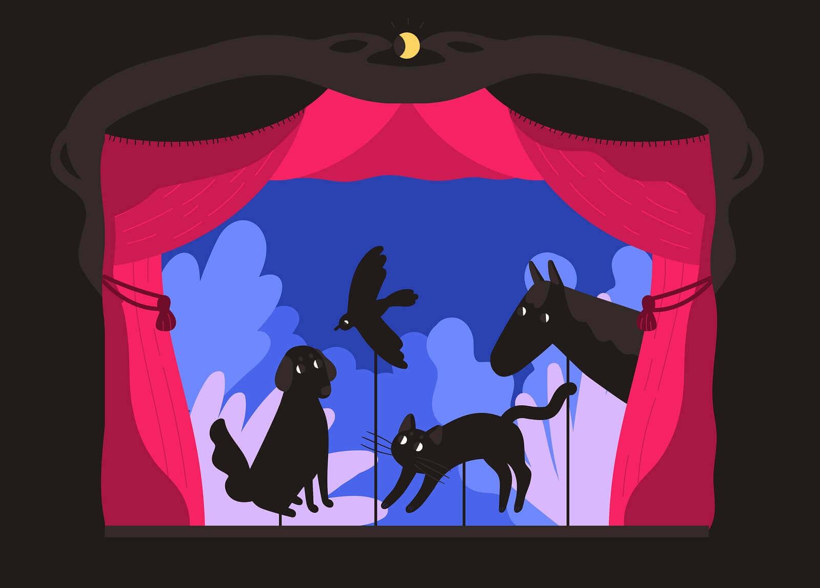 Realizzare un teatro di ombre.