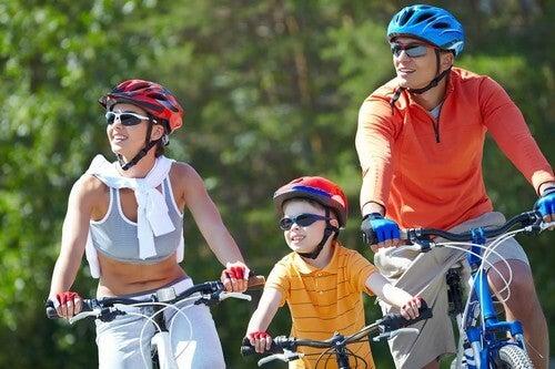 Fare sport in famiglia.