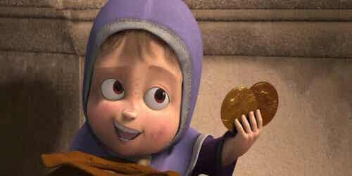 Bambina protagonista del corto One Man Band.
