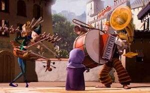 Immagine del corto One Man Band per riflettere sul problema della rivalità.